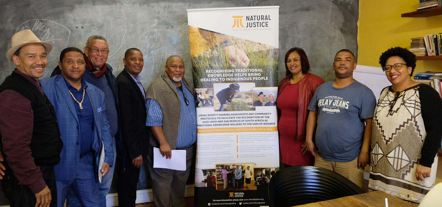 National Khoi-San Council Working Group on Rooibos and Lesle Jansen (third from right) from Natural Justice