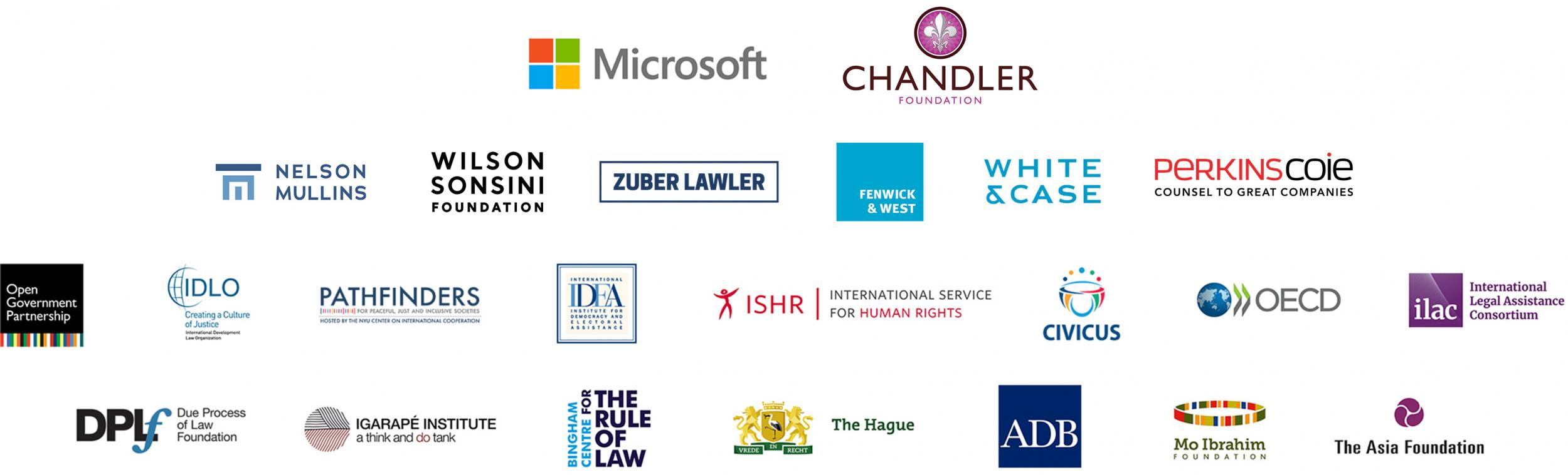 World Justice Challenge sponsors and partners