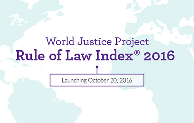 WJP 2016 Rule of Law Launch Announcement