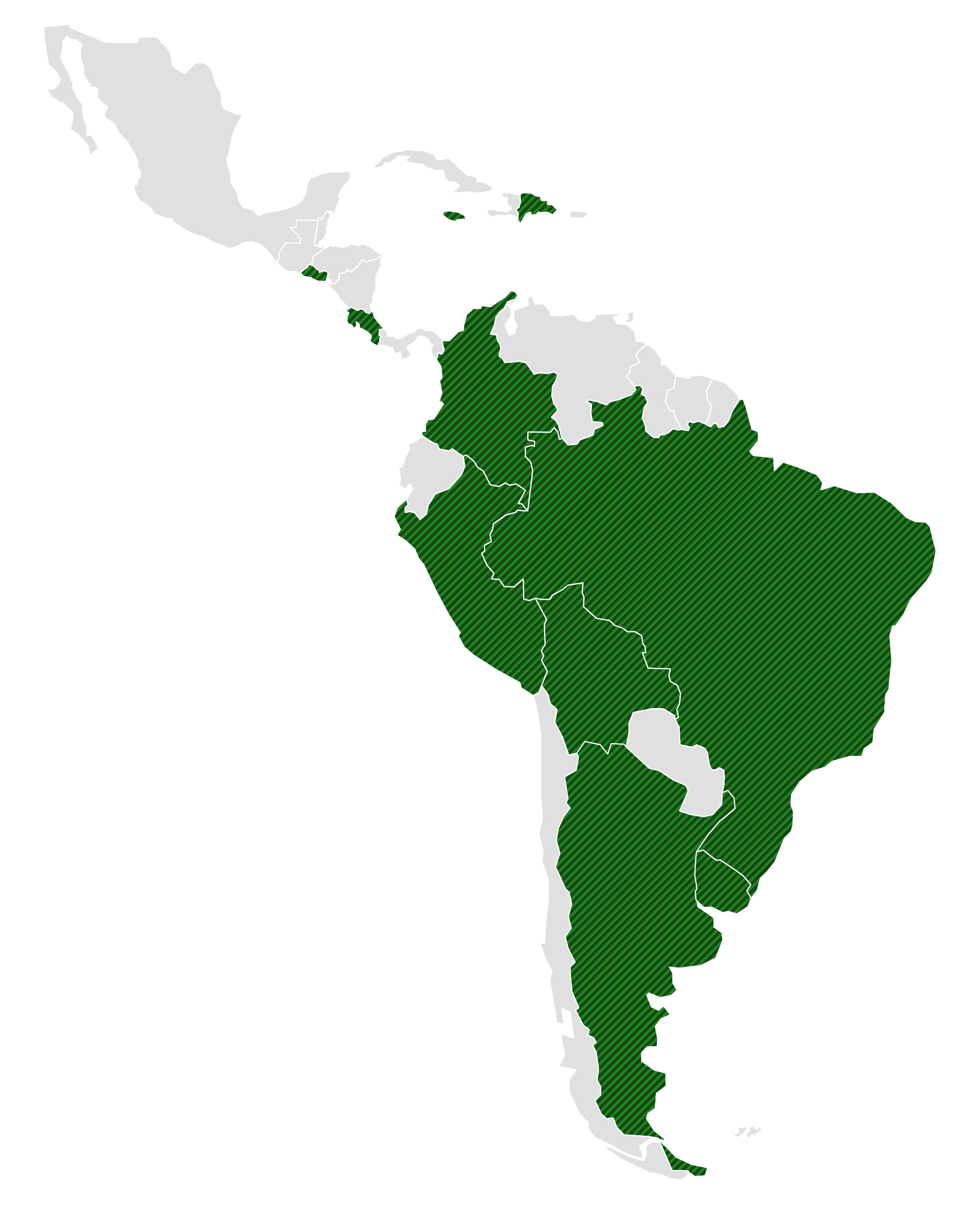 Countries covered in the Environmental Governance in Latin America study