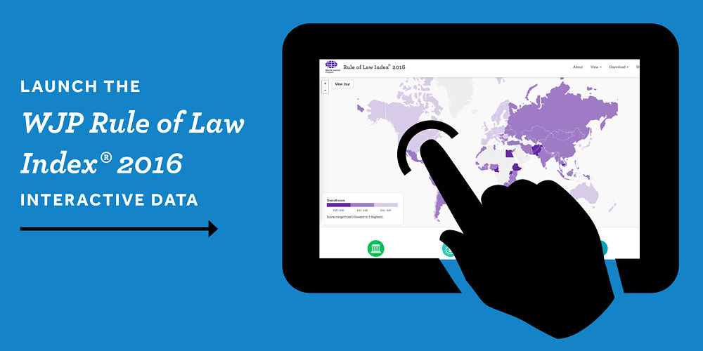 Launch Interactive Data for the WJP Rule of Law Index