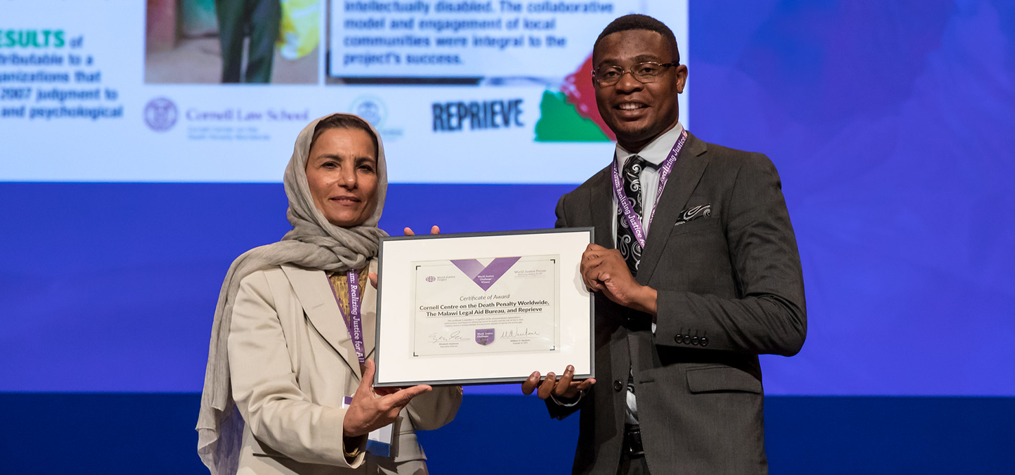 Malawi Resentencing Project accepts World Justice Challenge Award