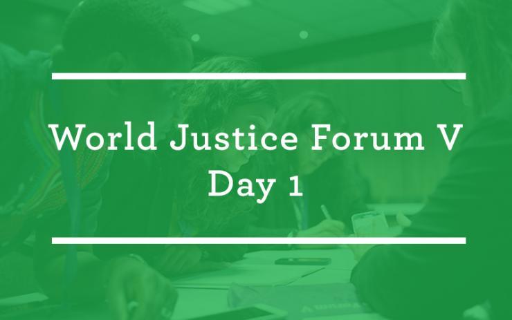 #WJForum V: Day 1
