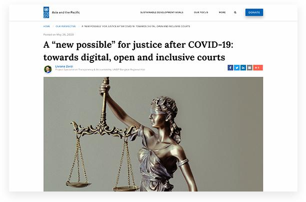 A 'new possible' for justice after COVID-19