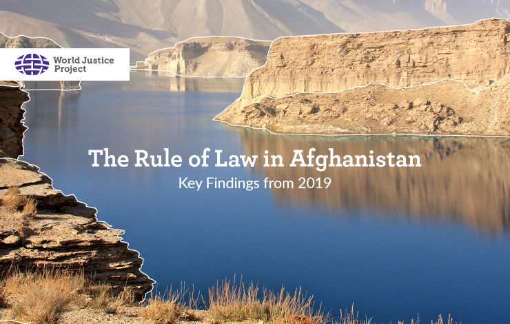 The Rule of Law in Afghanistan: Key Findings from 2019
