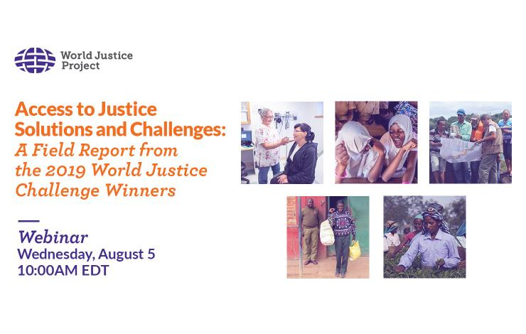 Access to Justice Solutions and Challenges webinar