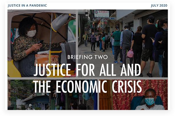 Briefing Two: Justice for All and the Economic Crisis