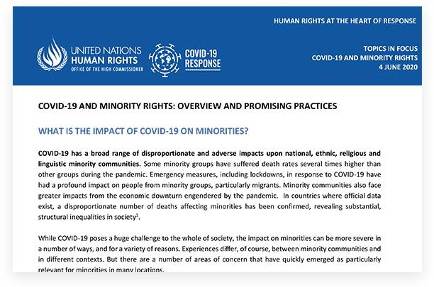 Covid-19 and Minority Rights