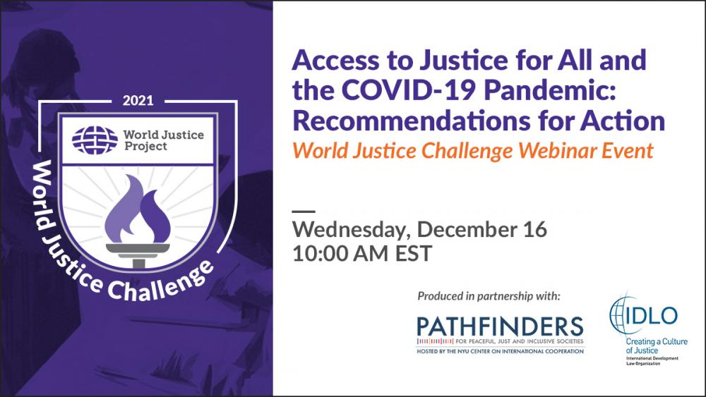 Access to Justice for All and the COVID-19 Pandemic: Recommendations for Action